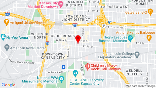 Google Map of 1820 McGee, Kansas City, MO 64108