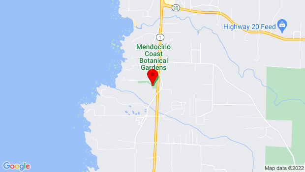 Google Map of 18220 North Highway One, Fort Bragg, CA 95437