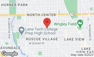 Map of 1824 West Patterson Avenue CHICAGO, IL 60613
