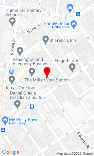 Google Map of Comly Auctioneers & Appraisers 1825 E. Boston Street , Philadelphia, PA, 19125