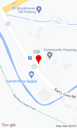 Google Map of L.H. Jones Equipment 1825 Earl L. Core Road, Morgantown, WV, 26505
