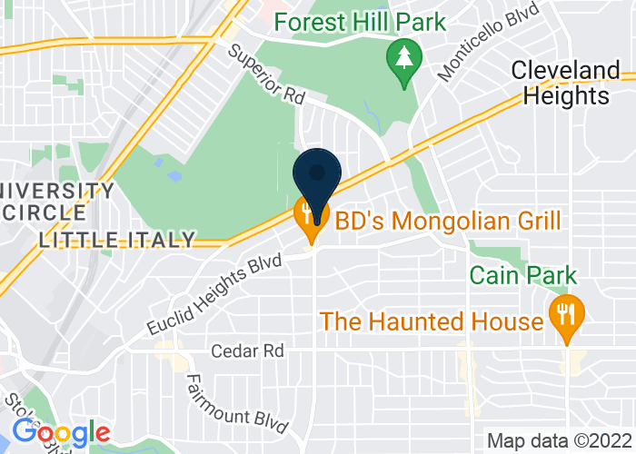 Map of 1825 Coventry Road, Cleveland Heights, OH 44118, United States