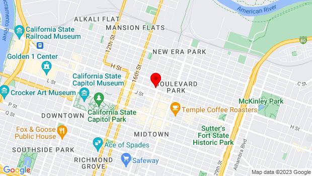 Google Map of 1825 I St., Sacramento, CA 95811