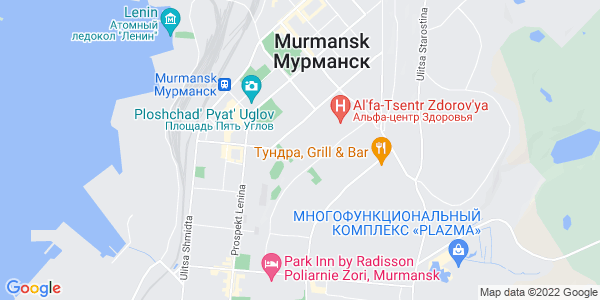 Google Map of 183038+Russia.+Murmansk.%0AVorovskogo+str.16+of.22
