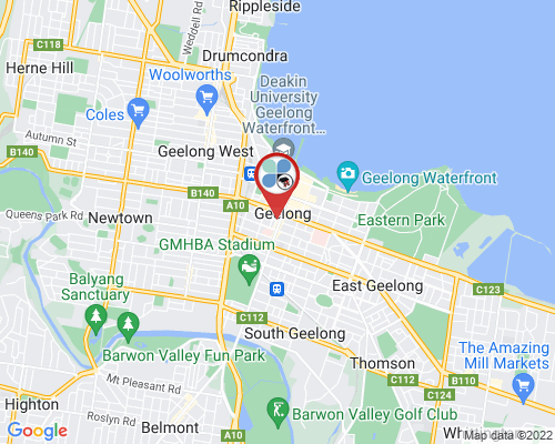 Geelong google map