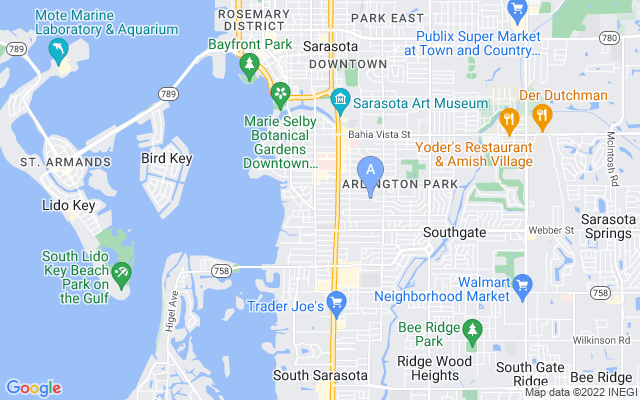 1844 Wisteria St Sarasota Florida 34239 locatior map