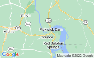 Map of Pickwick Dam Campground