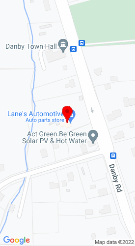 Google Map of Lane's Automotive 1850 Danby Road, Ithaca, NY, 14850