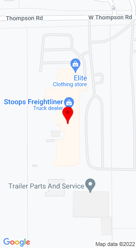 Google Map of Stoops Freightliner 1851 W Thompson Road, Indianapolis, IN, 46217
