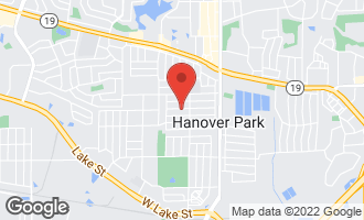 Map of 1853 Poplar Avenue HANOVER PARK, IL 60133