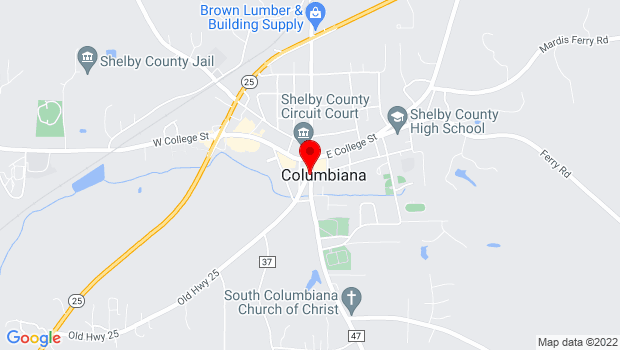 Google Map of 1854 Old Courthouse, Columbiana, AL 35051