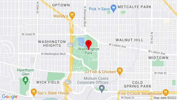 Google Map of 1859 N. 40th St., Milwaukee, WI 53208
