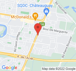 Google Map of 186+boulevard+Saint-Jean-Baptiste%2CChateauguay%2CQuebec+J6K+3B6