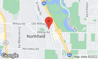 Map of 1866 Old Willow Road NORTHFIELD, IL 60093