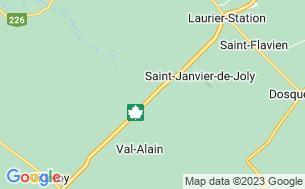 Map of Domaine De L'arc-En-Ciel «Pour Hommes Seulement»