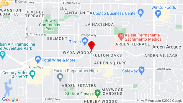 Google Map of 1880 Fulton Ave., Sacramento, CA 95825