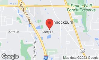 Map of 1880 Duffy Lane BANNOCKBURN, IL 60015