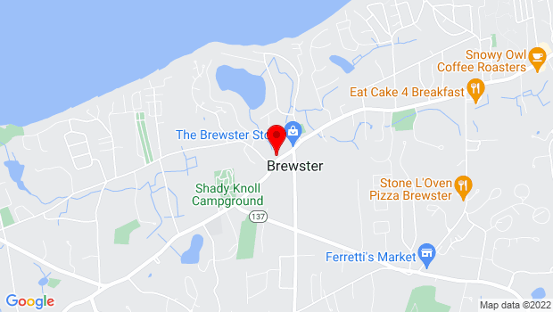Google Map of 1883 Main Street, Brewster, MA 02631