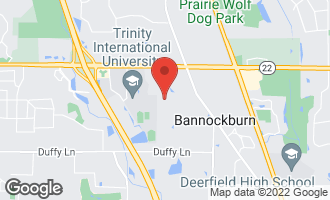 Map of 1885 Hilltop Lane BANNOCKBURN, IL 60015