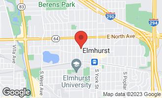 Map of 189 North Elm Street ELMHURST, IL 60126