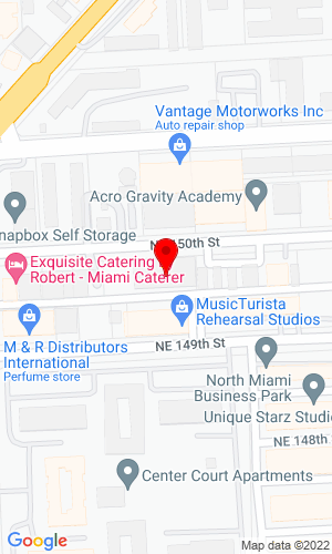 Google Map of Blanchard Machinery, Inc. 1890 NE 150th Street, North Miami, FL, 33181