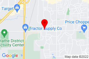 Google Map of 18919 W 158th Street Olathe, KS 66062
