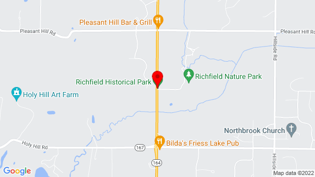 Google Map of 1896 State Road 164, Richfield, WI 53076