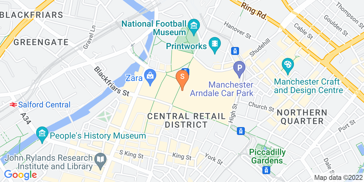 Google Map of 18th Floor Arndale HouseArndale House Manchester M4 3AL
