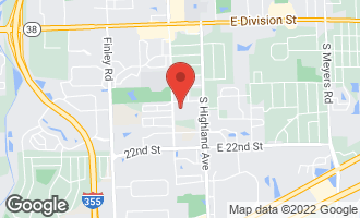 Map of 19 Bracken Court LOMBARD, IL 60148