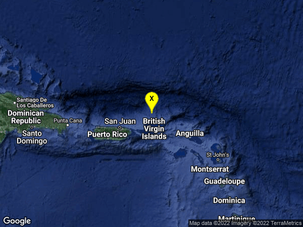 earthquake 69km N of Road Town, British Virgin Islands