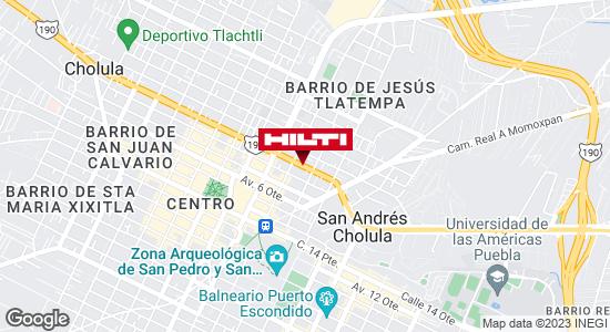 Obtener indicaciones para Ocurre Paqex Puebla (Cholula)