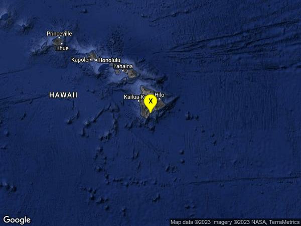 earthquake 5 km S of Pāhala, Hawaii