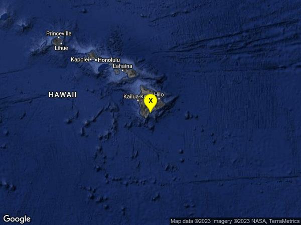 earthquake 6km SSE of Pahala, Hawaii