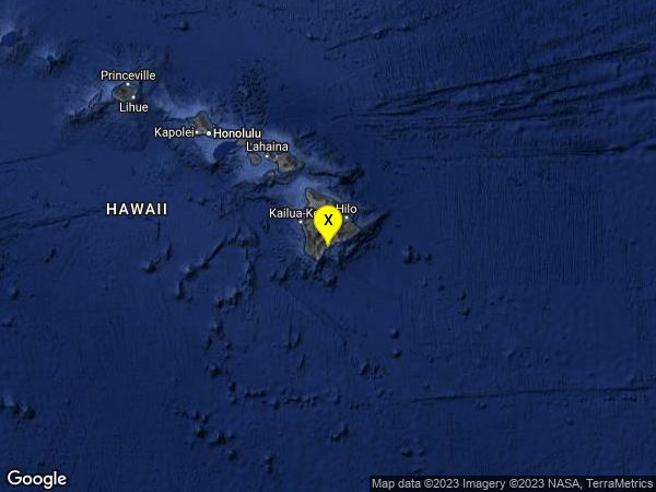 earthquake 2 km ESE of Pāhala, Hawaii