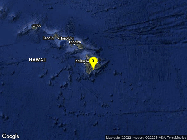 earthquake 10km E of Pahala, Hawaii