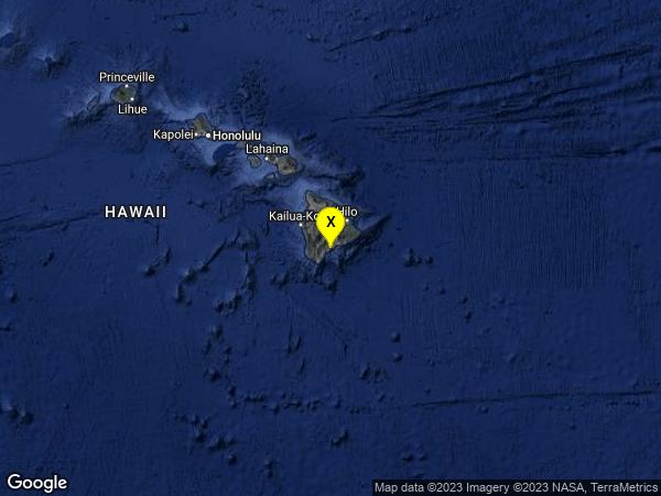 earthquake 6km E of Pahala, Hawaii
