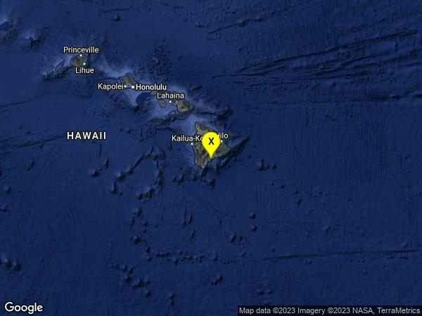 earthquake 7km ENE of Pahala, Hawaii
