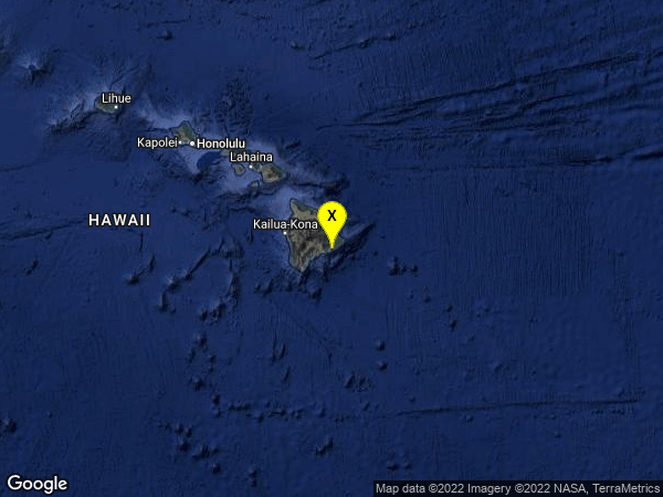 earthquake 17km S of Fern Acres, Hawaii