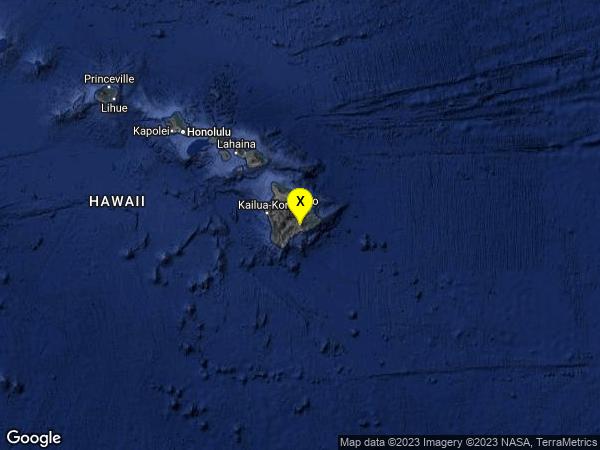 earthquake 6 km SW of Volcano, Hawaii