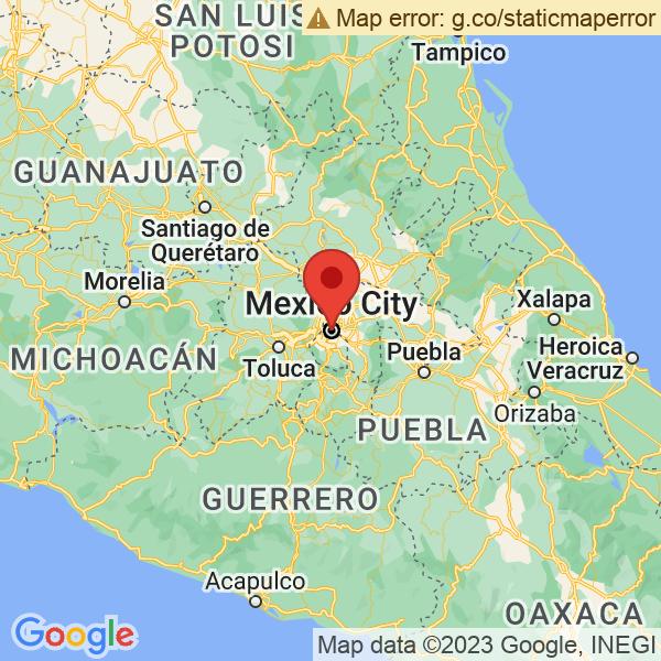 Google Map of 19.4326077,-99.13320799999997