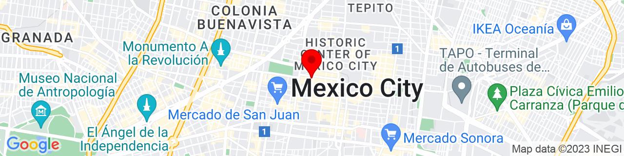 Google Map of 19.434166666666666, -99.13861111111112