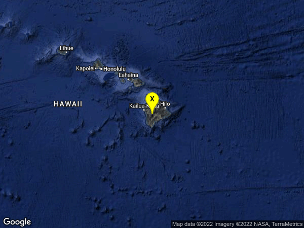 earthquake 22 km E of Honaunau-Napoopoo, Hawaii