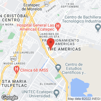 Map of Av. Central S/N, Fraccionamiento Las Americas in Ecatepec de Morelos