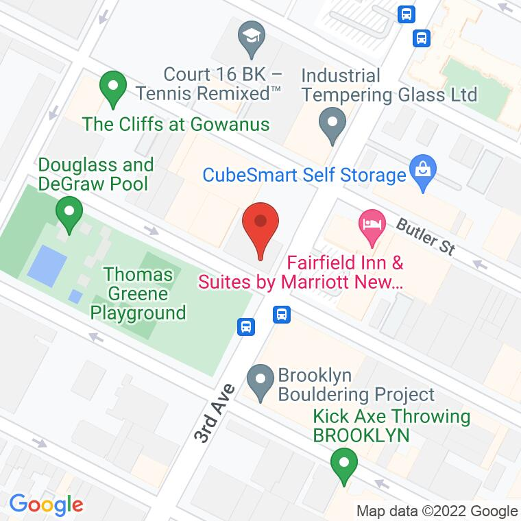 Google Map of 190 3rd Avenue, Brooklyn, NY 11217, 190 3rd Avenue, Brooklyn, NY 11217
