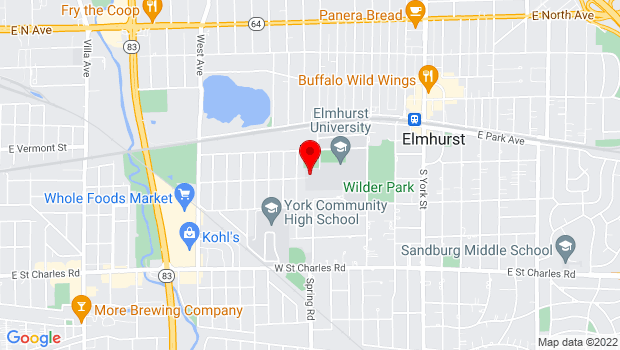Google Map of 190 S. Prospect, Elmhurst, IL 60126