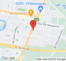 Google Map of 190%2C+BOUL.+ST-JEAN-BAPTISTE%2CChateauguay%2CQuebec+J6K+3B6
