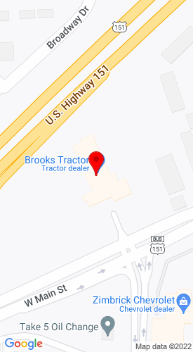 Google Map of Brooks Tractor 1900 W Main Street , Sun Prairie, WI, 53590