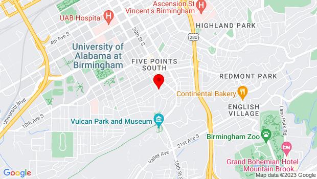 Google Map of 1900 14th Avenue South , Birmingham, AL 35205