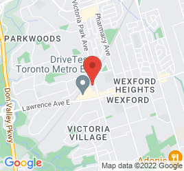 Google Map of 1900+Victoria+Park+Avenue%2CToronto%2COntario+M1R+1T6