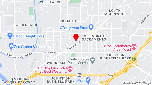 Google Map of 1901 Del Paso Boulevard, Sacramento, CA 95815